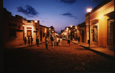 Oaxaca, Mexico; The Alcala, a 17th century stone street,  now reserved for foot traffic.